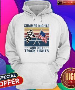 Summer Nights And Dirt Track Lights Vintage Hoodie