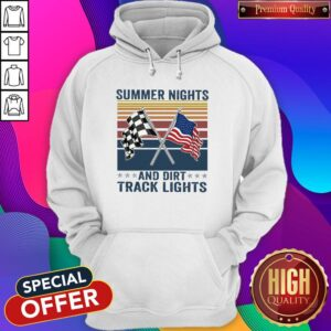 Summer Nights And Dirt Track Lights Vintage Hoodie