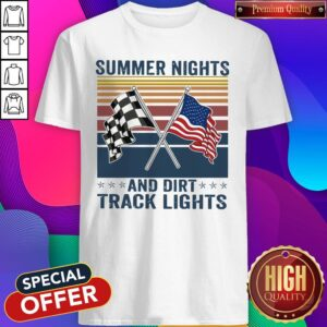 Summer Nights And Dirt Track Lights Vintage Shirt
