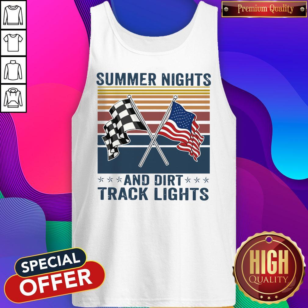 Summer Nights And Dirt Track Lights Vintage Tank Top