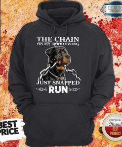 The Chain On My Mood Swing Just Snapped Run Dog Hoodie