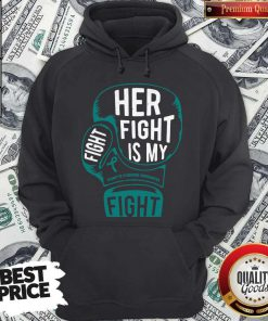 Top Boxing Her Fight Is My Fight Tourette Syndrome Awareness Hoodie