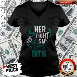 Top Boxing Her Fight Is My Fight Tourette Syndrome Awareness V-neck