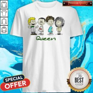 Top The Peanuts Characters Queen Shirt
