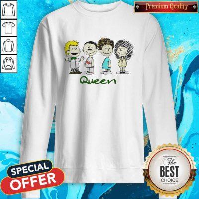 Top The Peanuts Characters Queen Sweatshirt
