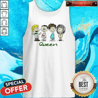 Top The Peanuts Characters Queen Tank Top