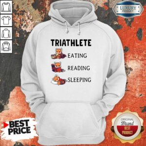 Triathlete Eating Reading Sleeping Hoodie