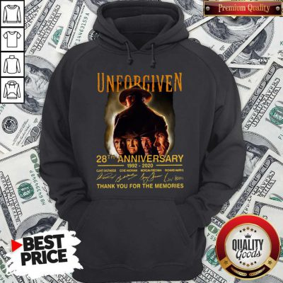 Unforgiven 28th Anniversary 1992 2020 Signatures Thank You For The Memories Hoodie