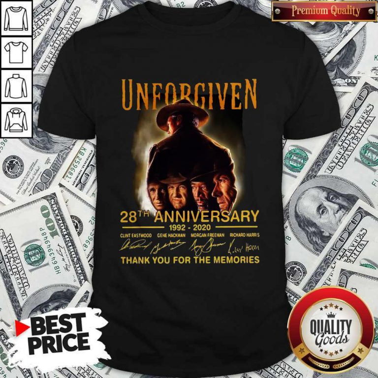Unforgiven 28th Anniversary 1992 2020 Signatures Thank You For The Memories Shirt