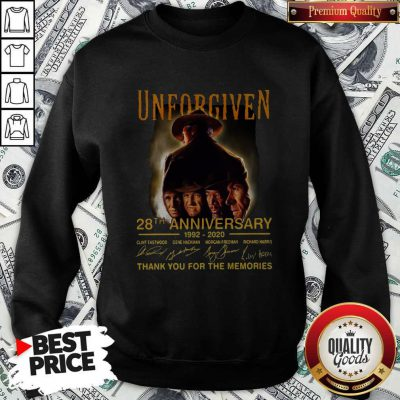 Unforgiven 28th Anniversary 1992 2020 Signatures Thank You For The Memories Sweatshirt