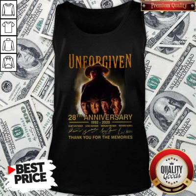 Unforgiven 28th Anniversary 1992 2020 Signatures Thank You For The Memories Tank Top