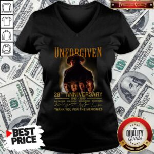 Unforgiven 28th Anniversary 1992 2020 Signatures Thank You For The Memories V-neck