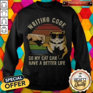 Writing Code So My Cat Can Have A Better Life Sweatshirt