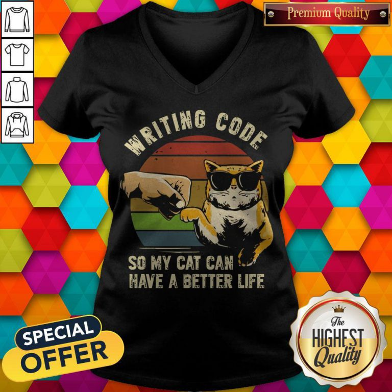 Writing Code So My Cat Can Have A Better Life V-neck