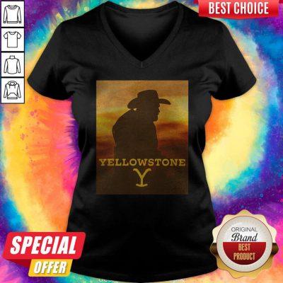 Yellowstone 1936 Movie Sunset V-neck
