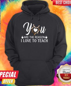 You Are The Reason I Love To Teach Hoodie