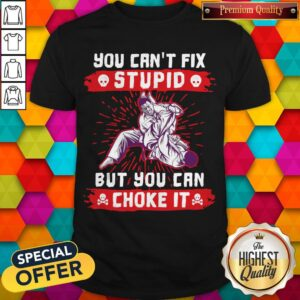 You Can't Fix Stupid But You Can Choke It Shirt