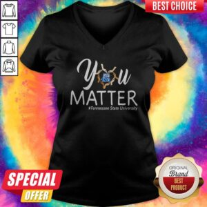 You Matter Tennessee State University Heart Black Lives Matters V-neck