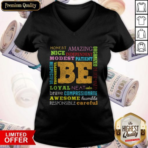 Be Awesome Word Cloud Growth Mindset Teacher Power Of Yet V-neck