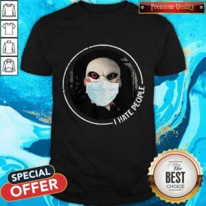 Beautiful Jigsaw Face Mask I Hate People Shirt