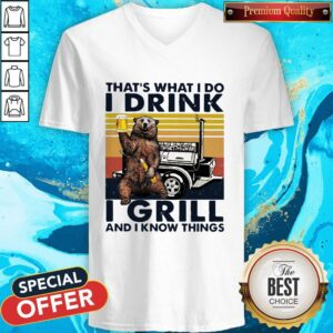 Bigfood That's What I Do I Drink I Grill And I Know Things V-neck