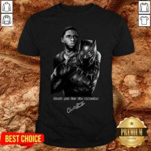 Chadwick Boseman The Black Panther Marvel Film Star Thank You For The Memories Shirt