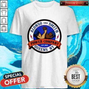 Cute Alonso & Smith Queens Power Company NY Logo Shirt
