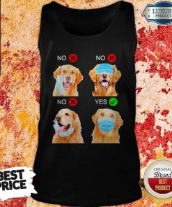 Cute Golden Retriever Dogs Right Way To Wear Mask Tank Top