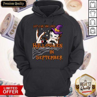 Cute Just A Girl Who Loves Halloween In September Hoodie