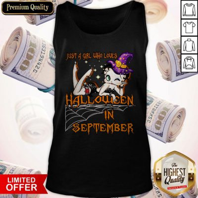 Cute Just A Girl Who Loves Halloween In September Tank Top
