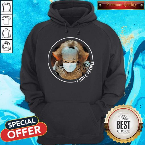 Cute Pennywise Face Mask I Hate People Hoodie