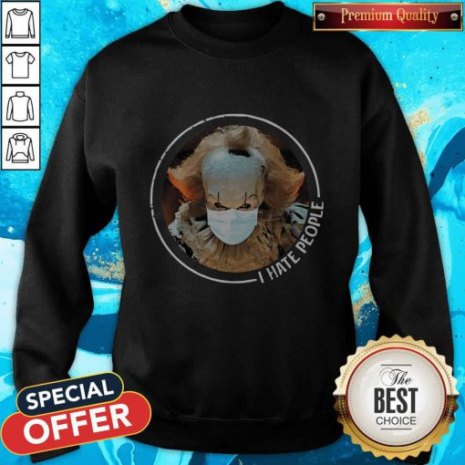 Cute Pennywise Face Mask I Hate People Sweatshirt