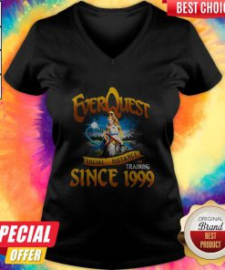Funny Everquest Social Distance Training Since 1999 V-neck