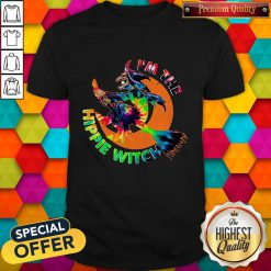 Funny I'm The Hippie Witch Halloween Shirt