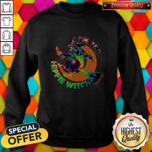 Funny I'm The Hippie Witch Halloween Sweatshirt