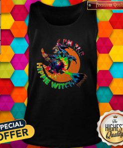 Funny I'm The Hippie Witch Halloween Tank Top