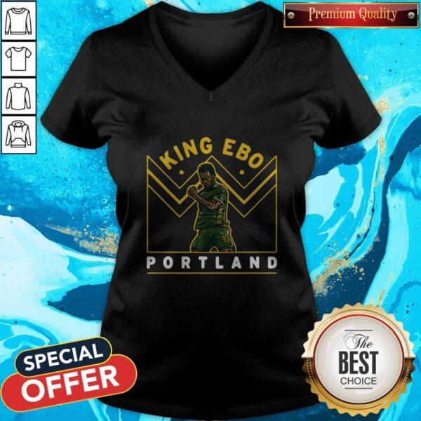 Funny Jeremy Ebobisse King Ebo Portland V-neck