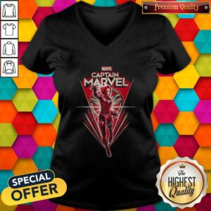 Good Marvel Captain Marvel Superwoman V-neck