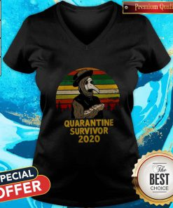 Good Plague Doctor Quarantine Survivor 2020 V-neck