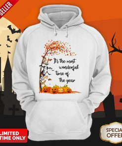 Halloween Cows Pumpkin It's The Most Wonderful Time Of The Year Hoodie