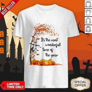Halloween Cows Pumpkin It's The Most Wonderful Time Of The Year Shirt