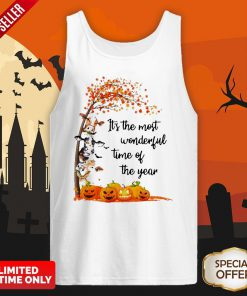 Halloween Cows Pumpkin It's The Most Wonderful Time Of The Year Tank Top