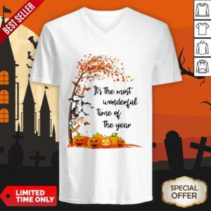 Halloween Cows Pumpkin It's The Most Wonderful Time Of The Year V-neck