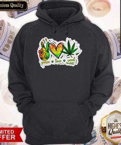 Happy Peace Love Weed Hoodie