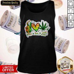 Happy Peace Love Weed Tank Top