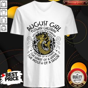 Hot August Girl Flower Children With The Soul Of A Mermaid V-neckHot August Girl Flower Children With The Soul Of A Mermaid V-neck