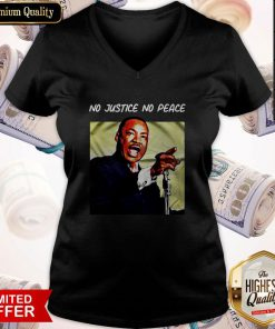Hot Martin Luther King No Justice No Peace V-neck