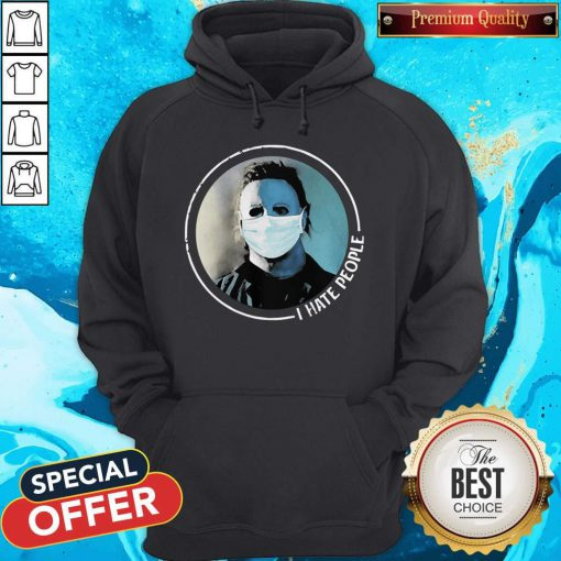 Hot Michael Myers Face Mask I Hate People Hoodie