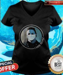Hot Michael Myers Face Mask I Hate People V-neck