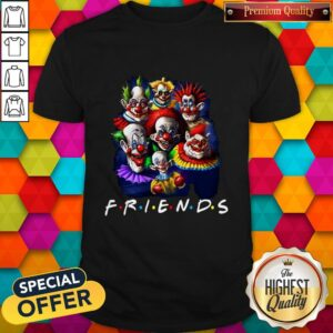 Hot Scary Clown Friends Halloween Shirt